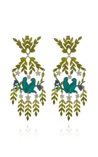 Paradise Lost Brass Earrings