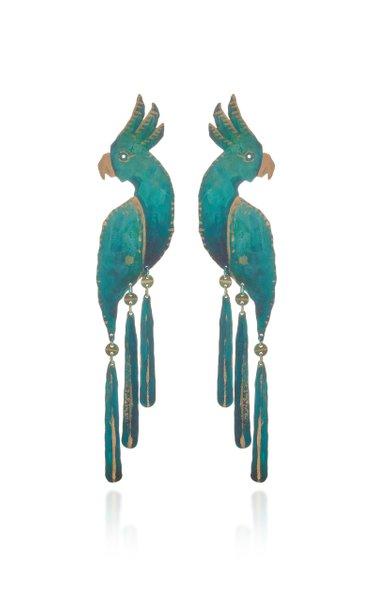 Cockatoo Brass Earrings