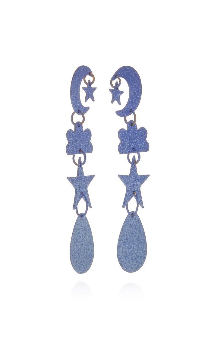 Ombré Sky Brass Earrings