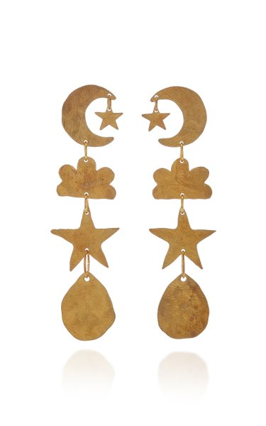 Sky Brass Earrings