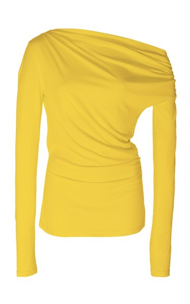 Harmon Draped Stretch-Modal Top