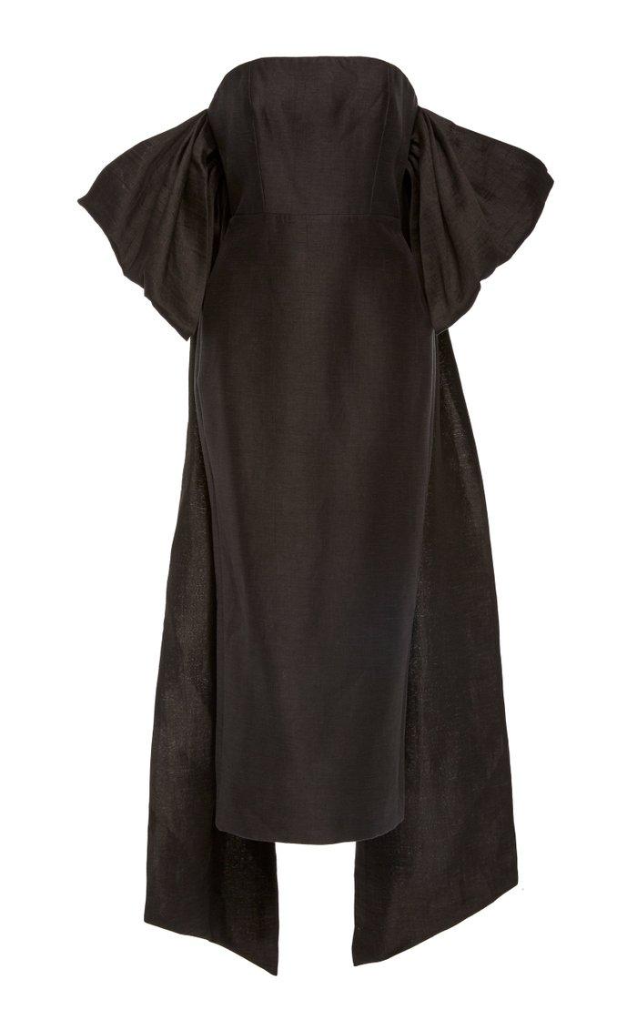 Booth Off-The-Shoulder Linen-Blend Dress