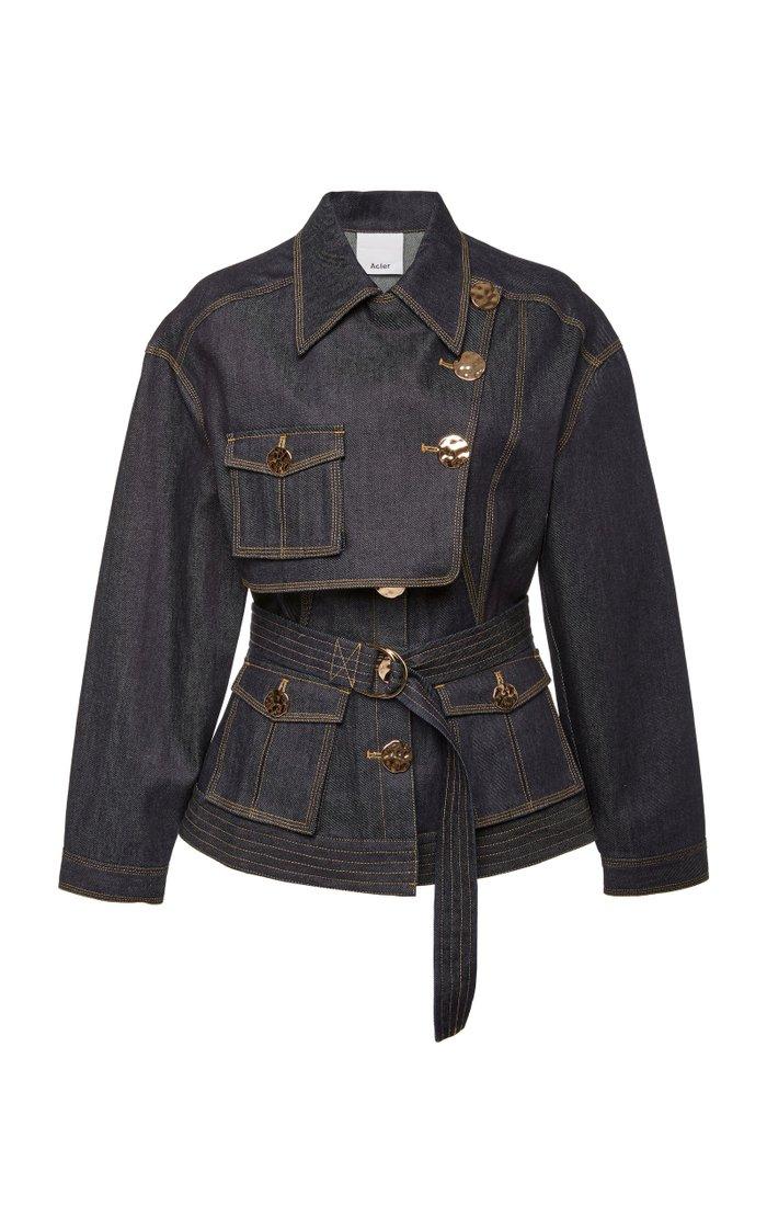 Lewis Belted Denim Jacket