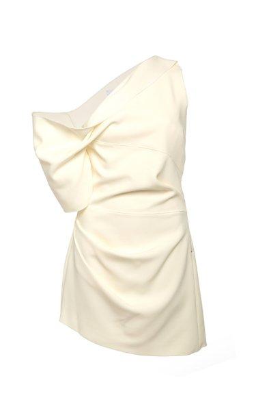 Juniper One-Shoulder Crepe Mini Dress