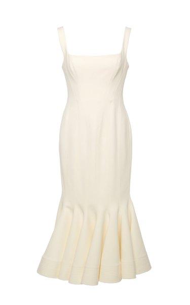 Mawson Square-Neck Stretch-Knit Midi Dress