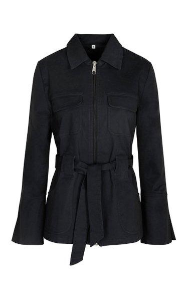 Emilie Belted Cotton-Blend Jacket
