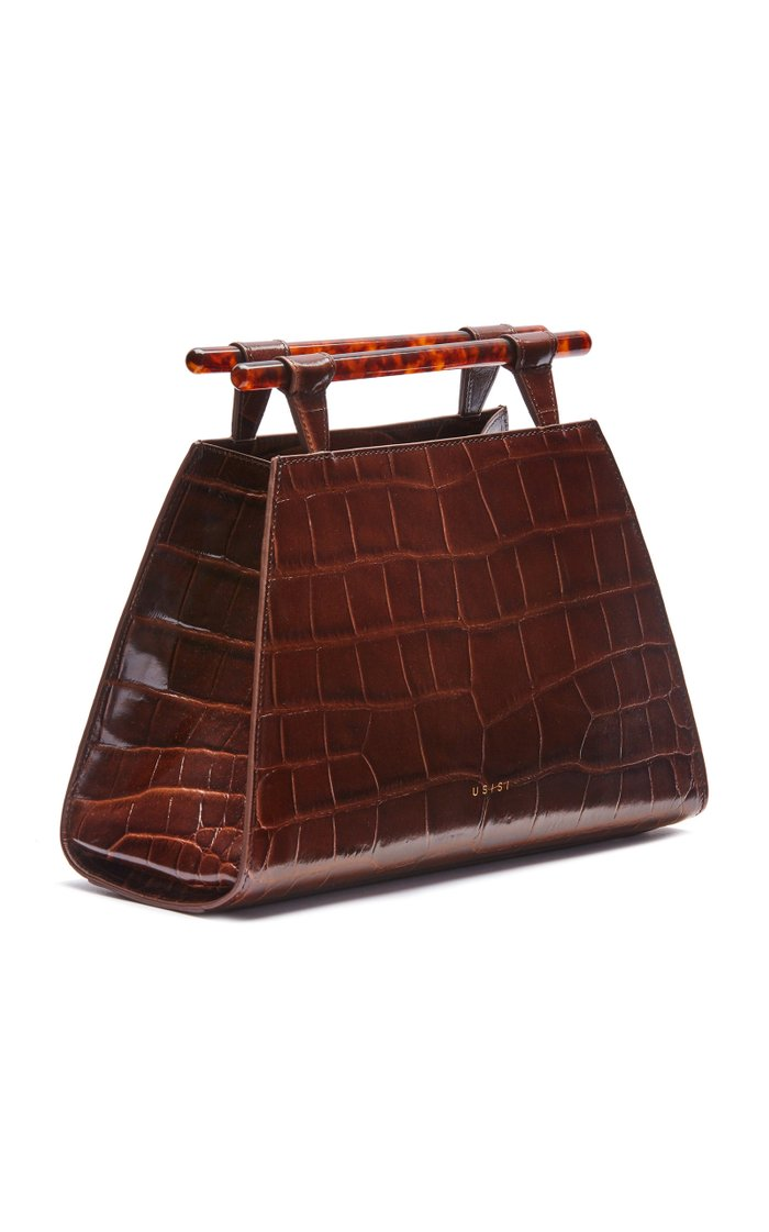 Johnny Croc-Effect Leather Bag