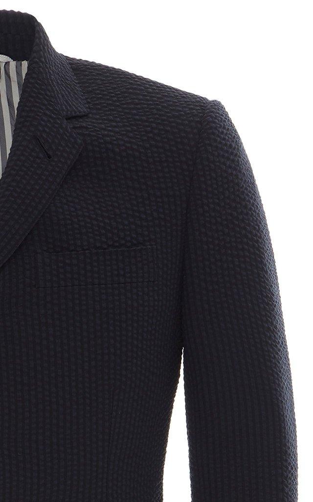 Single-Breasted Engineered Wool Blazer