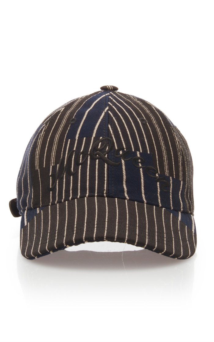 Striped Logo-Embroidered Cotton-Twill Cap