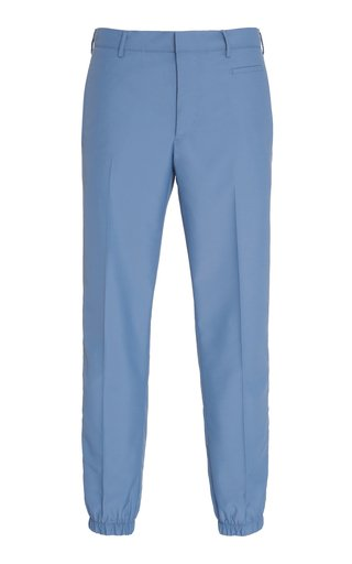 Cotton-Twill Slim-Leg Pants