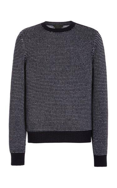 Striped Cashmere-Knit Sweater