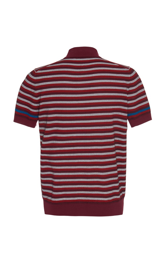 Striped Cotton-Pique Polo Shirt