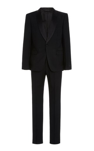 Satin-Trimmed Wool Tuxedo