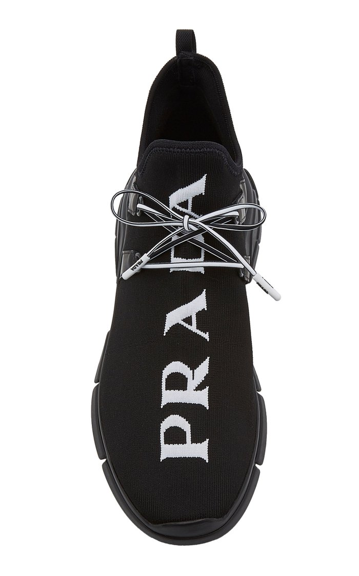 Lace-Up Knit Sneakers