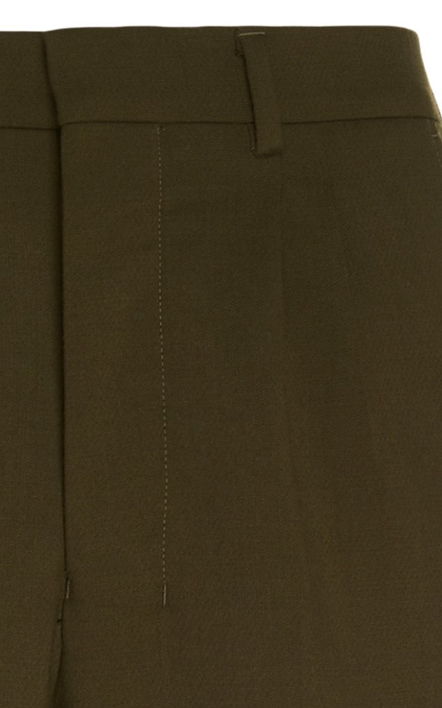 Tapered Pleated Cotton-Twill Chinos