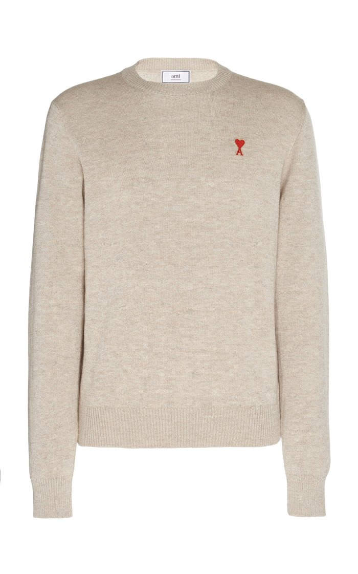Logo-Embroidered Wool Sweater