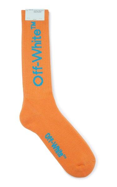 Arrow Cotton Intarsia-Knit Socks