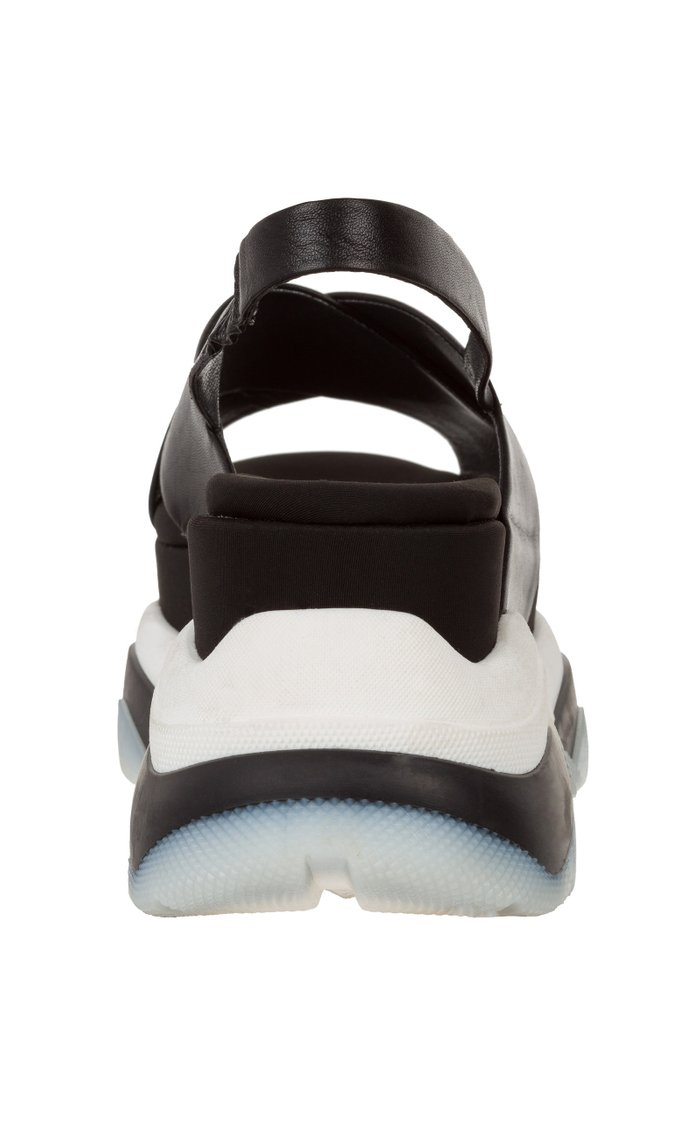 Sporty Leather Platform Sandals