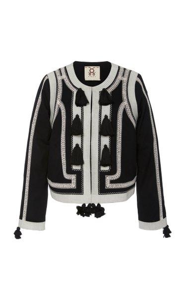Harrison Tasseled Embroidered Cotton Jacket