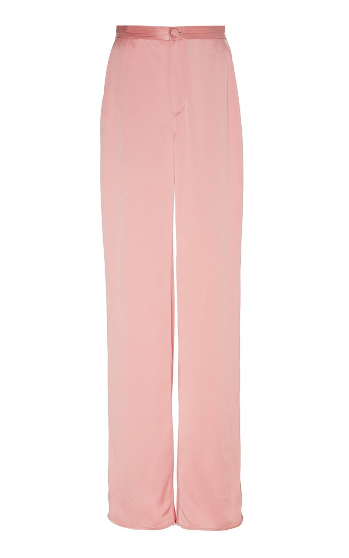Doubleface Satin Highwaisted Trouser