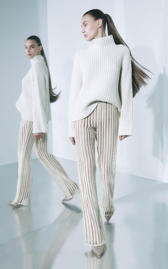 Oversized Silk-Cashmere Mockneck Sweater