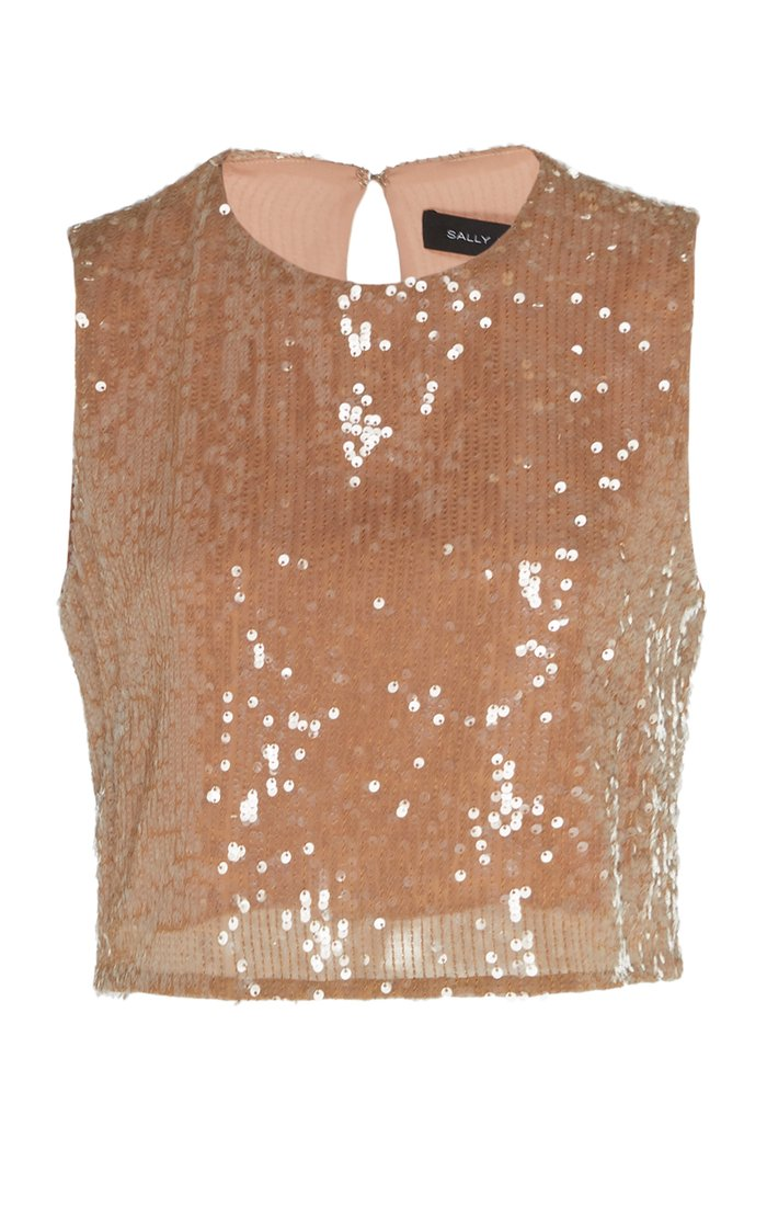 Sequined Crepe Top
