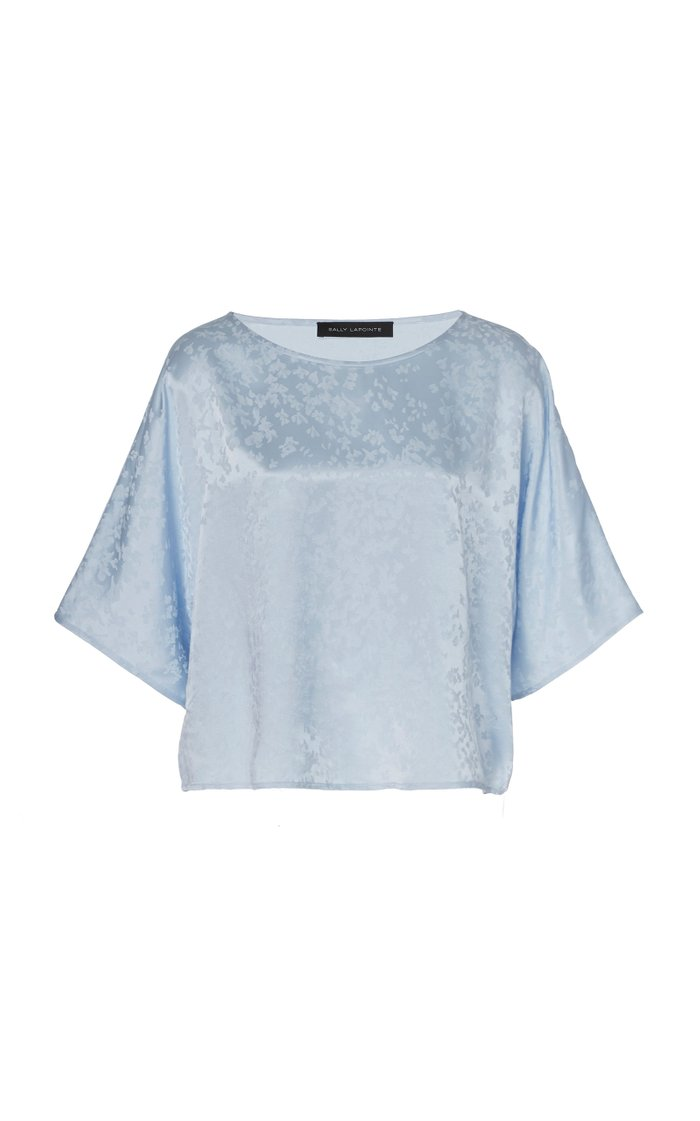 Oversized Floral-Jacquard Top