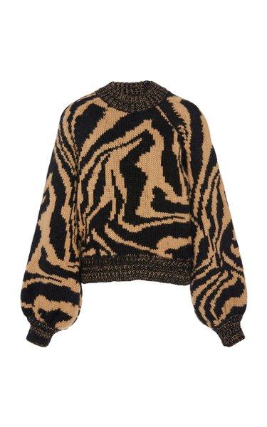 Intarsia Wool and Alpaca-Blend Sweater