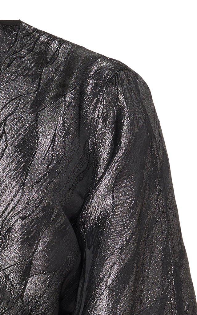 Metallic Jacquard Mini Dress