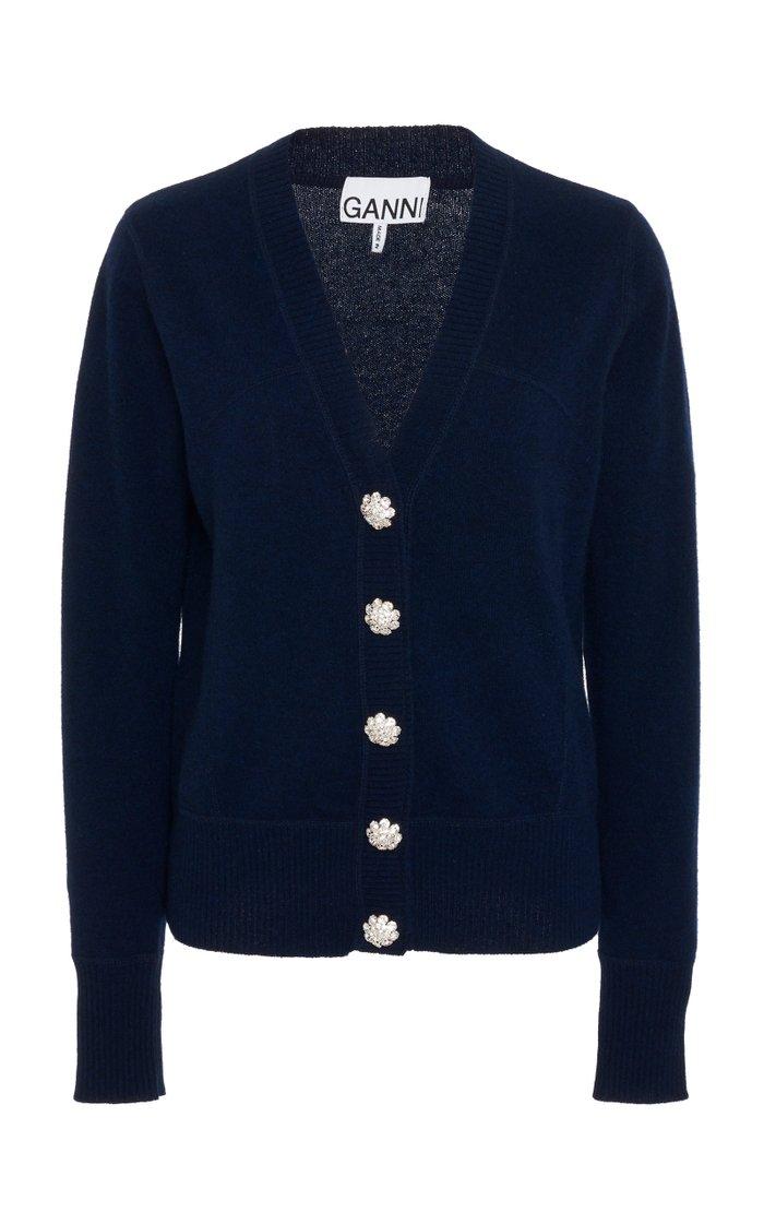 Crystal-Embellished Cashmere Cardigan