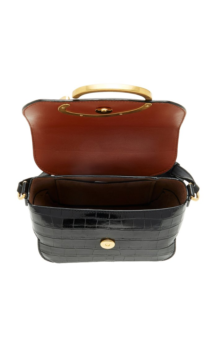 Oath Croc-Effect Leather Shoulder Bag