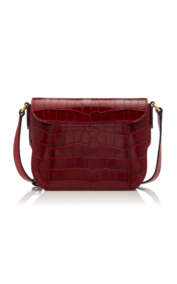 Oath Croc-Effect Leather Shoulder Bag