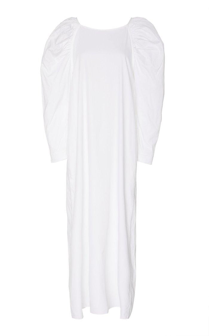 Elisabetta Mutton Cotton Midi Dress