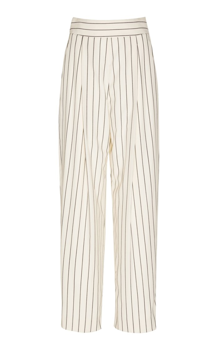 Striped Wool And Mohair Pants