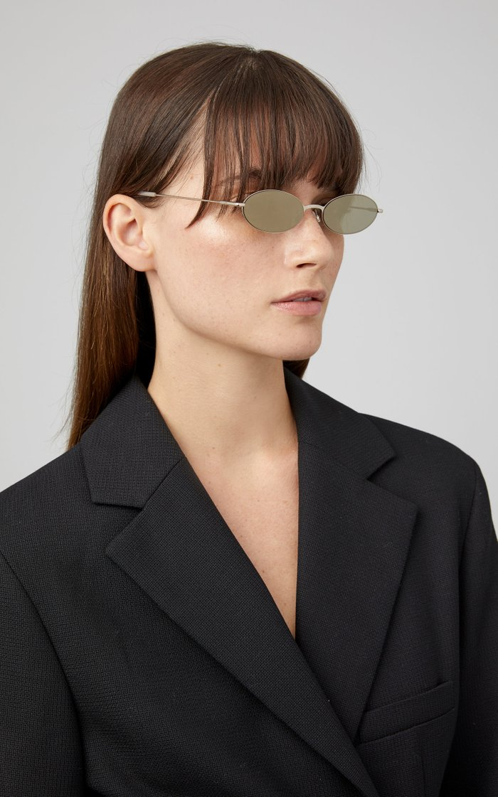 Sand Round-Frame Acetate Sunglasses