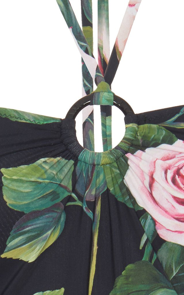 Floral-Print Halterneck Swimsuit