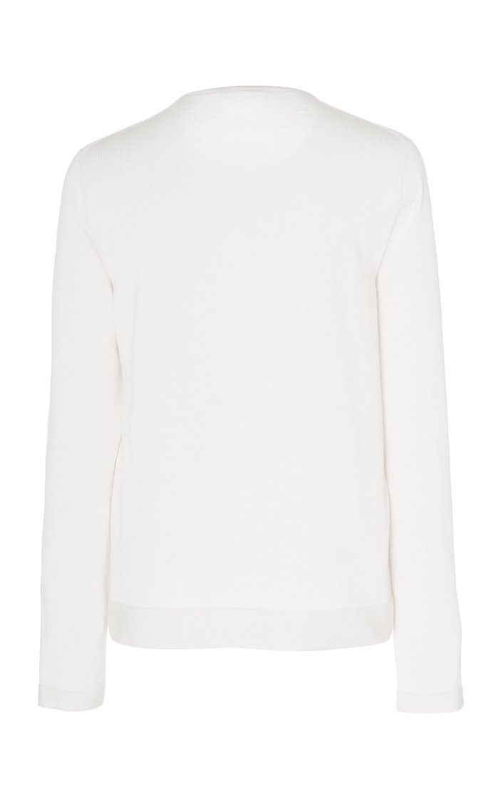 Cashmere And Silk-Blend Ribbed Knit Sweater