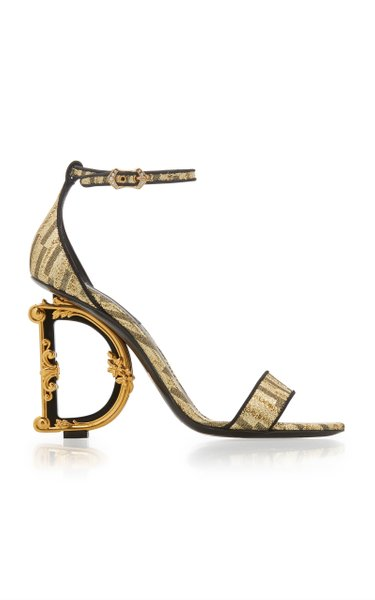 Logo-Embellished Lurex Sandals