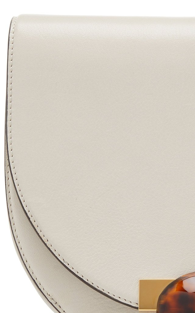 Galet Embellished Leather Shoulder Bag