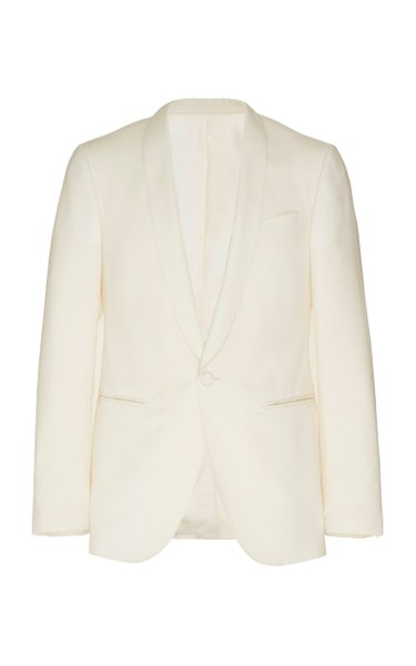 Satin-Trimmed Wool and Mohair-Blend Blazer
