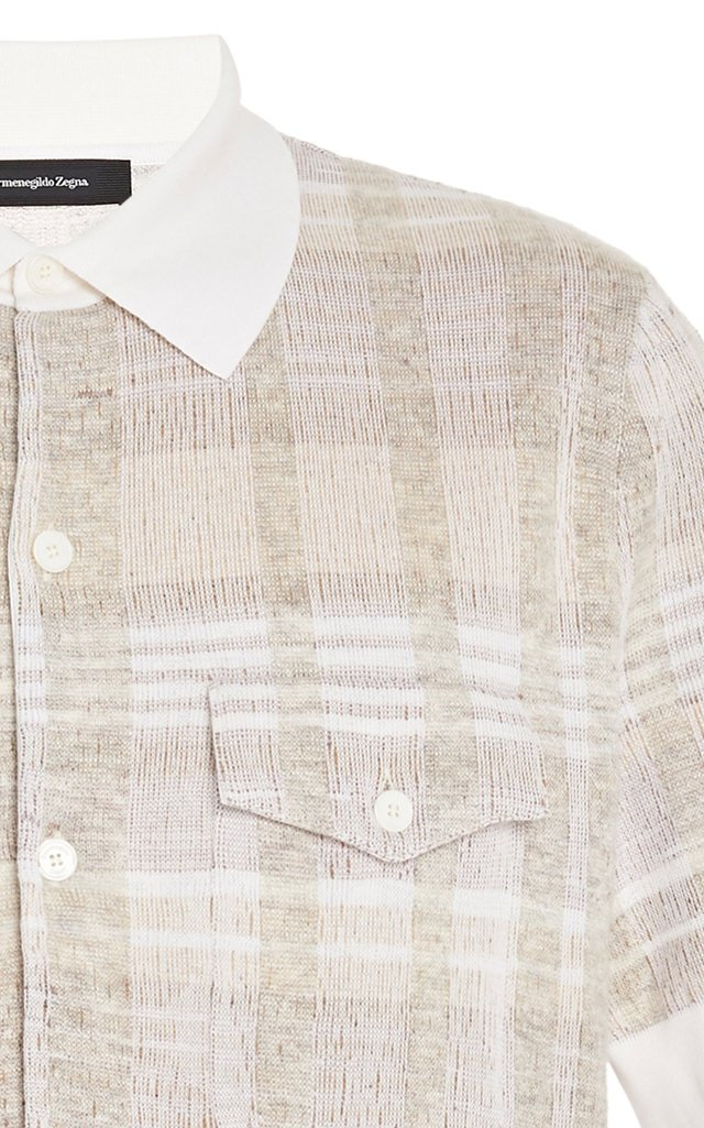 Tweed Button-Down Sweater
