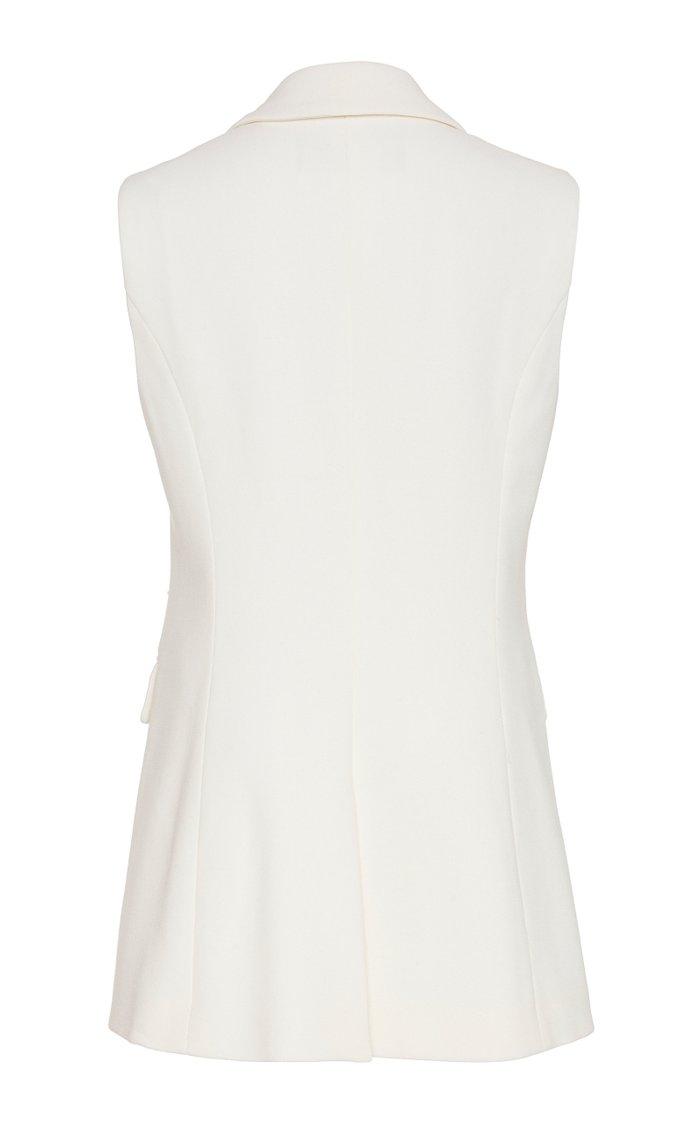 Crystal-Embellished Wool-Blend Vest