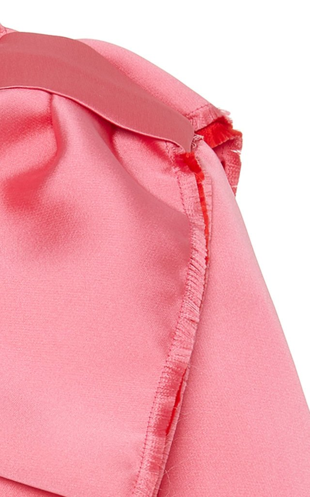 Bow-Detailed Satin Top
