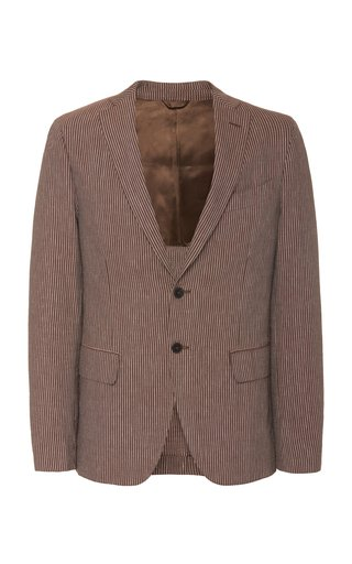 Seersucker Two-Button Jacket