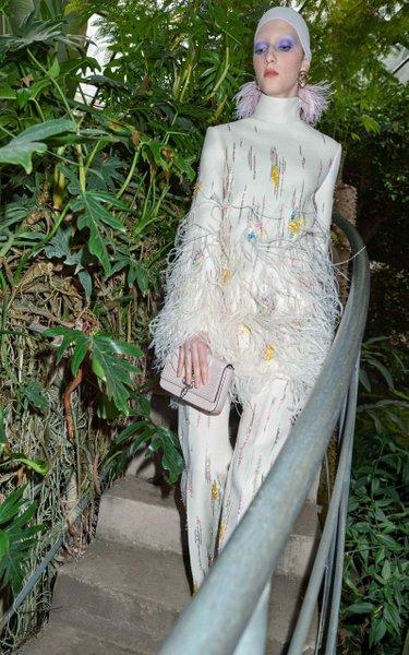 Feather Embellished Tunic