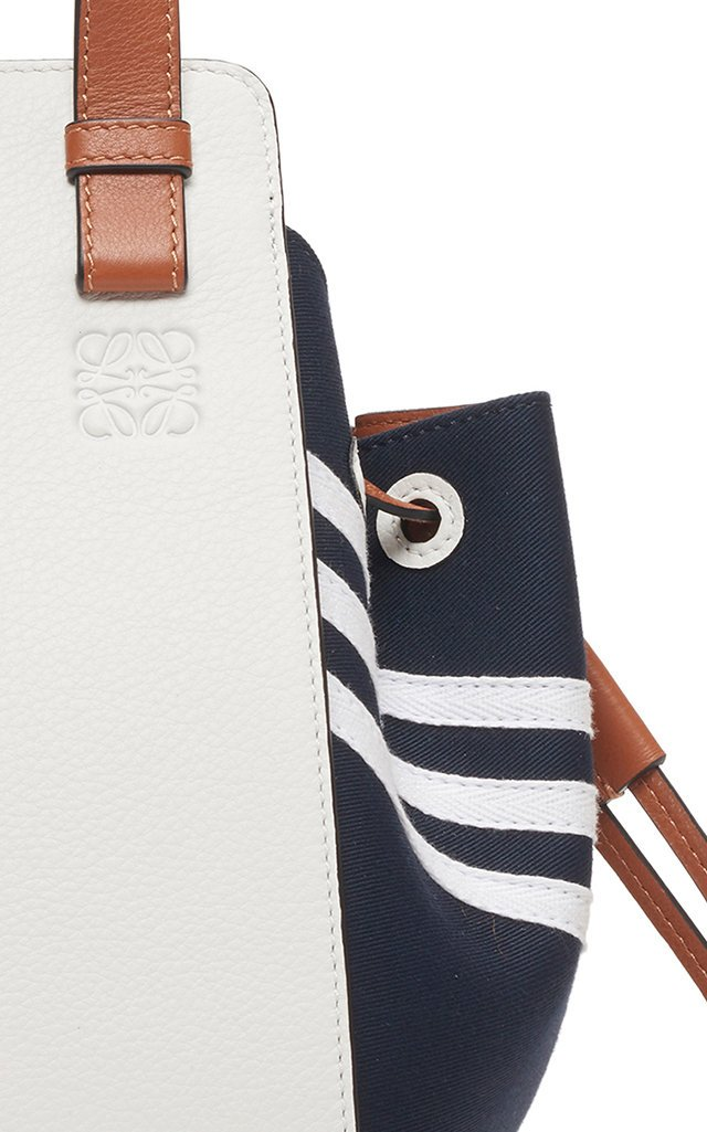 Hammock Mini Canvas-Paneled Leather Tote