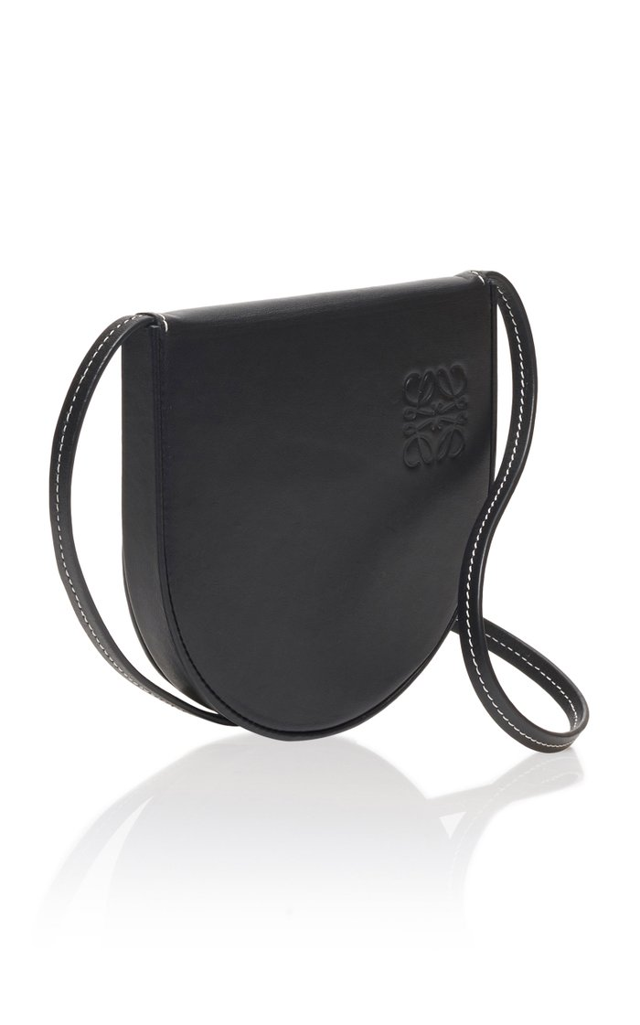 Small Heel Leather Pouch Bag