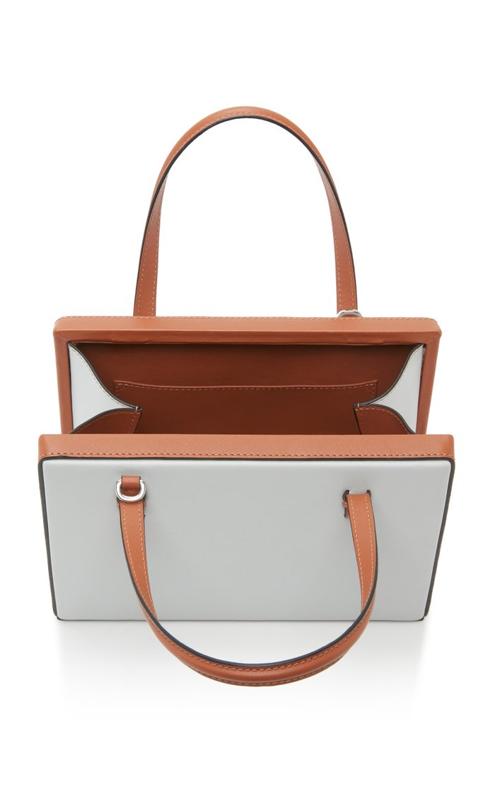Postal Two-Tone Leather Tote