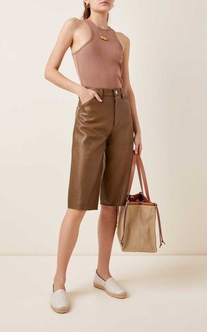 Anagram Leather Espadrilles
