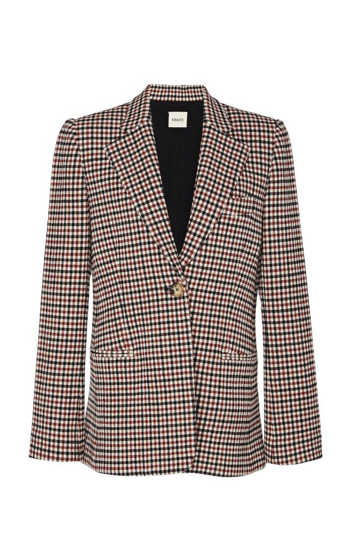Vera Checked Wool-Blend Blazer